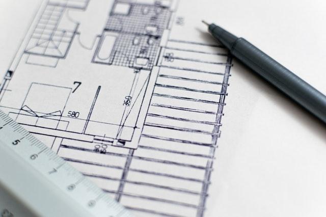 Folksom tegner penn arkitektur