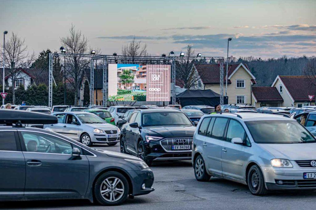 Drive-in kino på Tolvsrød Folksom Coop Audi
