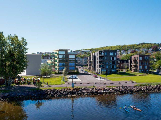 Rolv Wesenlunds vei 9 fasade sjø